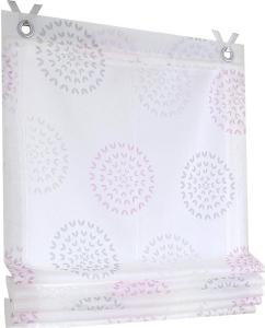 Raffrollo / Ösenrollo Bella zum komplett werkzeuglosen Aufhängen   rose - Breite 45 - 100 cm (Breite: 45 cm x 140 cm)