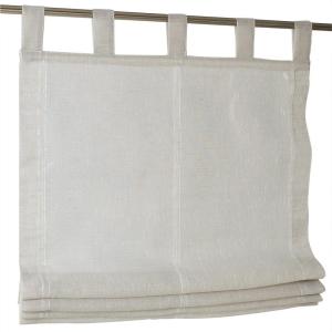 Raffrollo / Schlaufenrollo Brondby für die Gardinenstange   taupe - Breite 45 - 120 cm (Maße des Raffrollos / Schlaufenrollos: 45 cm x 140 cm)