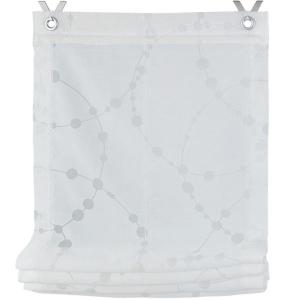 Raffrollo / Ösenrollo Cadena zum komplett werkzeuglosen Aufhängen   weiß - Breite 45 - 120 cm (Maße des Raffrollos / Ösenrollos: 45 cm x 140 cm)