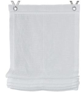 Raffrollo / Ösenrollo Celtic zum komplett werkzeuglosen Aufhängen   offwhite - Breite 45 - 120 cm (Breite des Raffrollos / Ösenrollos: 45 cm x 140 cm)