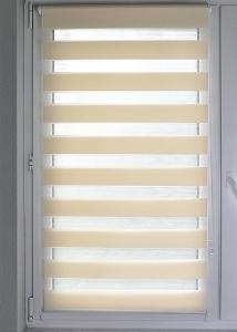 Doppelrollo Sola Lichtschutz ohne Bohren   beige - Breite 45 - 120 cm (Breite des Raffrollos / Ösenrollos: 45 cm x 160 cm)