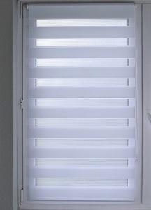Doppelrollo Sola Lichtschutz ohne Bohren   weiss - Breite 45 - 120 cm (Breite des Raffrollos / Ösenrollos: 45 cm x 160 cm)