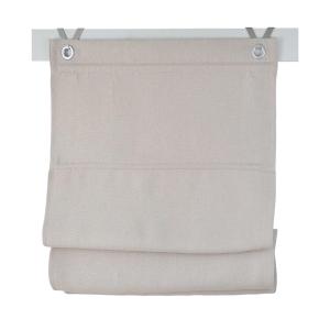 Raffrollo / Ösenrollo Dimout  zum komplett werkzeuglosen Aufhängen   creme - Breite 45 - 100 cm (Breite des Raffrollos / Ösenrollos: 45 cm x 140 cm)