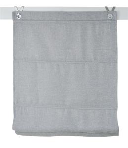 Raffrollo / Ösenrollo Dimout  zum komplett werkzeuglosen Aufhängen   grau - Breite 45 - 100 cm (Breite des Raffrollos / Ösenrollos: 45 cm x 140 cm)