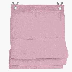Raffrollo / Ösenrollo Dimout  zum komplett werkzeuglosen Aufhängen   rose - Breite 45 - 100 cm (Breite des Raffrollos / Ösenrollos: 45 cm x 140 cm)