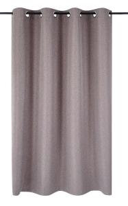 Vor-x-Verdunkelung Ösenschal Dimout   braun - Höhe 145 cm - 245 cm (Maße des Vorhangs / Ösenschals: 140 cm x 145 cm)