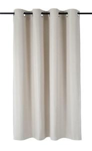 Vor-x-Verdunkelung Ösenschal Dimout   creme - Höhe 145 cm - 245 cm (Maße des Vorhangs / Ösenschals: 140 cm x 145 cm)