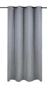 Vor-x-Verdunkelung Ösenschal Dimout   grau - Höhe 145 cm - 245 cm (Maße des Vorhangs / Ösenschals: 140 cm x 145 cm)