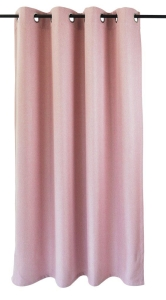 Vor-x-Verdunkelung Ösenschal Dimout   rose - Höhe 145 cm - 245 cm (Maße des Vorhangs / Ösenschals: 140 cm x 145 cm)