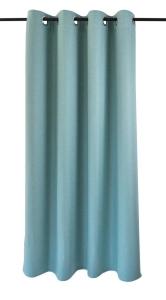 Vor-x-Verdunkelung Ösenschal Dimout   türkis - Höhe 145 cm - 245 cm (Maße des Vorhangs / Ösenschals: 140 cm x 145 cm)