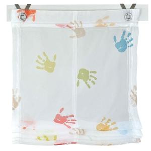 Raffrollo / Ösenrollo Kinder Hände zum komplett werkzeuglosen Aufhängen   bunt - Breite 45 - 100 cm (Breite: 45 cm x 130 cm)