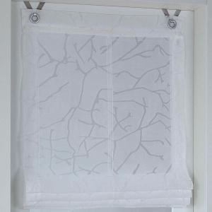 Raffrollo / Ösenrollo Jerry zum komplett werkzeuglosen Aufhängen   weiß - Breite 45 - 100 cm (Breite: 45 cm x 140 cm)