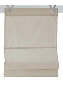 Raffrollo / Ösenrollo Kessy Bessy zum komplett werkzeuglosen Aufhängen   natur - Breite 45 - 100 cm (Breite des Raffrollos /Ösenrollos: 45 cm x 140 cm)