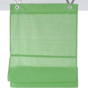 Raffrollo / Ösenrollo Kessy Bessy zum komplett werkzeuglosen Aufhängen   grün - Breite 45 - 100 cm (Breite des Raffrollos /Ösenrollos: 45 cm x 140 cm)