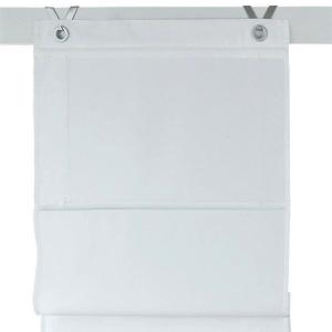 Raffrollo / Ösenrollo Kessy Bessy zum komplett werkzeuglosen Aufhängen   weiß - Breite 45 - 100 cm (Maße des Raffrollos / Ösenrollos: 45 cm x 140 cm)