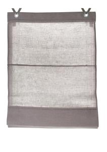 Raffrollo / Ösenrollo Metis zum komplett werkzeuglosen Aufhängen   taupe - Breite 45 - 100 cm (Maße des Raffrollos / Ösenrollos: 45 cm x 140 cm)