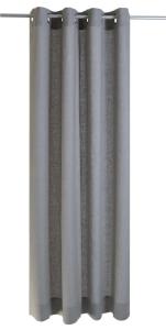 Vor-x-Gardine Ösenschal Metis   grau - Höhe 145 cm - 245 cm (Maße des Vorhangs / Ösenschals: 140 cm x 145 cm)