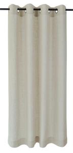 Vor-x-Gardine Ösenschal Metis   linen - Höhe 145 cm - 245 cm (Maße des Vorhangs / Ösenschals: 140 cm x 145 cm)