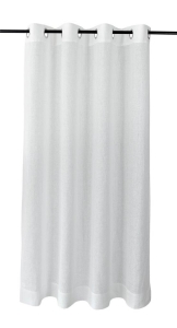 Vor-x-Gardine Ösenschal Metis   weiss - Höhe 145 cm - 245 cm (Maße des Vorhangs / Ösenschals: 140 cm x 145 cm)