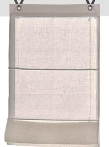 Raffrollo / Ösenrollo Metis zum komplett werkzeuglosen Aufhängen   creme - Breite 45 - 100 cm (Maße des Raffrollos / Ösenrollos: 45 cm x 140 cm)