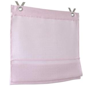 Raffrollo / Ösenrollo Metis zum komplett werkzeuglosen Aufhängen   rose - Breite 45 - 100 cm (Maße des Raffrollos / Ösenrollos: 45 cm x 140 cm)