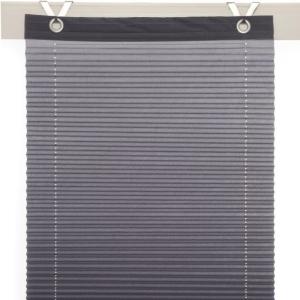Plissee / Ösenrollo Olbia zum komplett werkzeuglosen Aufhängen   grau - Breite 40 - 100 cm (Breite des Raffrollos / Ösenrollos: 40 cm x 125 cm)