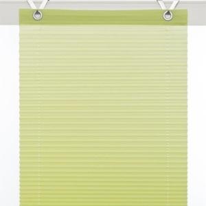 Plissee / Ösenrollo Olbia zum komplett werkzeuglosen Aufhängen   grün - Breite 40 - 100 cm (Breite des Raffrollos / Ösenrollos: 40 cm x 125 cm)