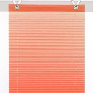 Plissee / Ösenrollo Olbia zum komplett werkzeuglosen Aufhängen   orange - Breite 40 - 100 cm (Breite des Raffrollos / Ösenrollos: 40 cm x 125 cm)