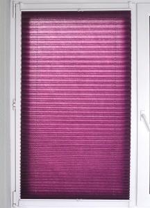 Plissee Brisa Lichtschutz ohne Bohren   aubergine - Breite 50 - 110 cm (Breite des Raffrollos / Ösenrollos: 50 cm x 140 cm)