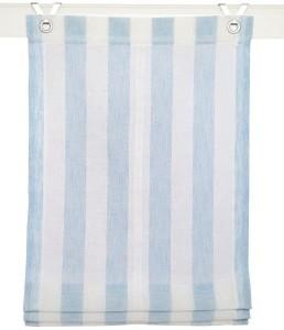 Raffrollo / Ösenrollo Bornholm zum komplett werkzeuglosen Aufhängen   blau - Breite 45 - 100 cm (Breite des Raffrollos / Ösenrollos: 45 cm x 130 cm)