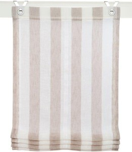 Raffrollo / Ösenrollo Bornholm zum komplett werkzeuglosen Aufhängen   taupe - Breite 45 - 100 cm (Breite des Raffrollos / Ösenrollos: 45 cm x 130 cm)