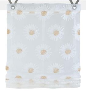 Raffrollo / Ösenrollo Daisy zum komplett werkzeuglosen Aufhängen   beige - Breite 45 - 100 cm (Breite: 45 cm x 140 cm)