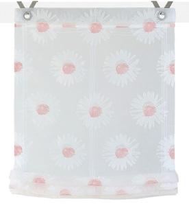 Raffrollo / Ösenrollo Daisy zum komplett werkzeuglosen Aufhängen   rose - Breite 45 - 100 cm (Breite: 45 cm x 140 cm)