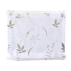 Raffrollo / Ösenrollo Dandelion zum komplett werkzeuglosen Aufhängen   weiß - Breite 45 - 120 cm (Breite: 45 cm x 140 cm)