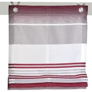 Raffrollo / Ösenrollo Jamaica zum komplett werkzeuglosen Aufhängen   beere - Breite 45 - 120 cm (Breite: 45 cm x 140 cm)