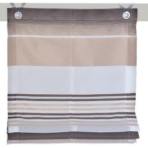 Raffrollo / Ösenrollo Jamaica zum komplett werkzeuglosen Aufhängen   braun - Breite 45 - 120 cm (Breite: 45 cm x 140 cm)