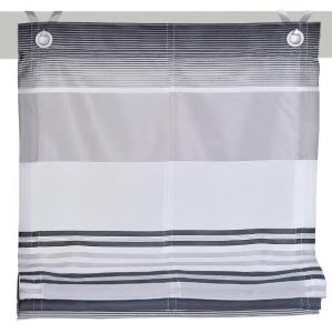 Raffrollo / Ösenrollo Jamaica zum komplett werkzeuglosen Aufhängen   grau - Breite 45 - 120 cm (Breite: 45 cm x 140 cm)