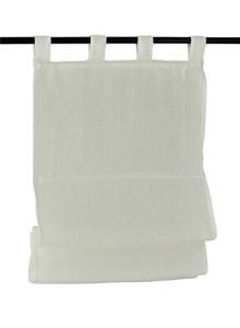 Raffrollo / Schlaufenrollo Metis für die Gardinenstange   creme - Breite 45 - 120 cm (Maße des Raffrollos / Schlaufenrollos: 45 cm x 140 cm)