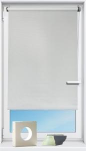 Seitenzugrollo verdunkelnd Luna ohne Bohren   weiss - Breite 60 - 140 cm (Breite des Raffrollos / Ösenrollos: 60 cm x 160 cm)