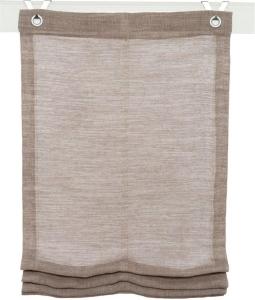 Raffrollo / Ösenrollo Skagen zum komplett werkzeuglosen Aufhängen  taupe - Breite 45 - 100 cm (Breite des Raffrollos / Ösenrollos: 45 cm x 130 cm)