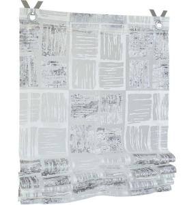 Raffrollo / Ösenrollo Tiziano zum komplett werkzeuglosen Aufhängen   grau - Breite 45 - 100 cm (Breite: 45 cm x 140 cm)