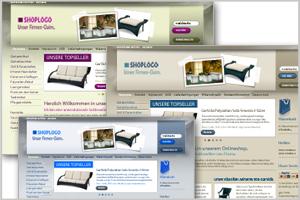 Neue Onlineshop Designvorlagen
